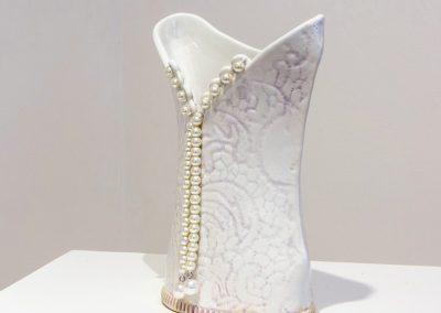 V-back Bridal Vase
